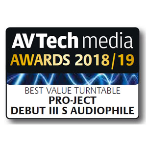 Pro-Ject Debut III S Audiophile, AV Tech Media, November 2018