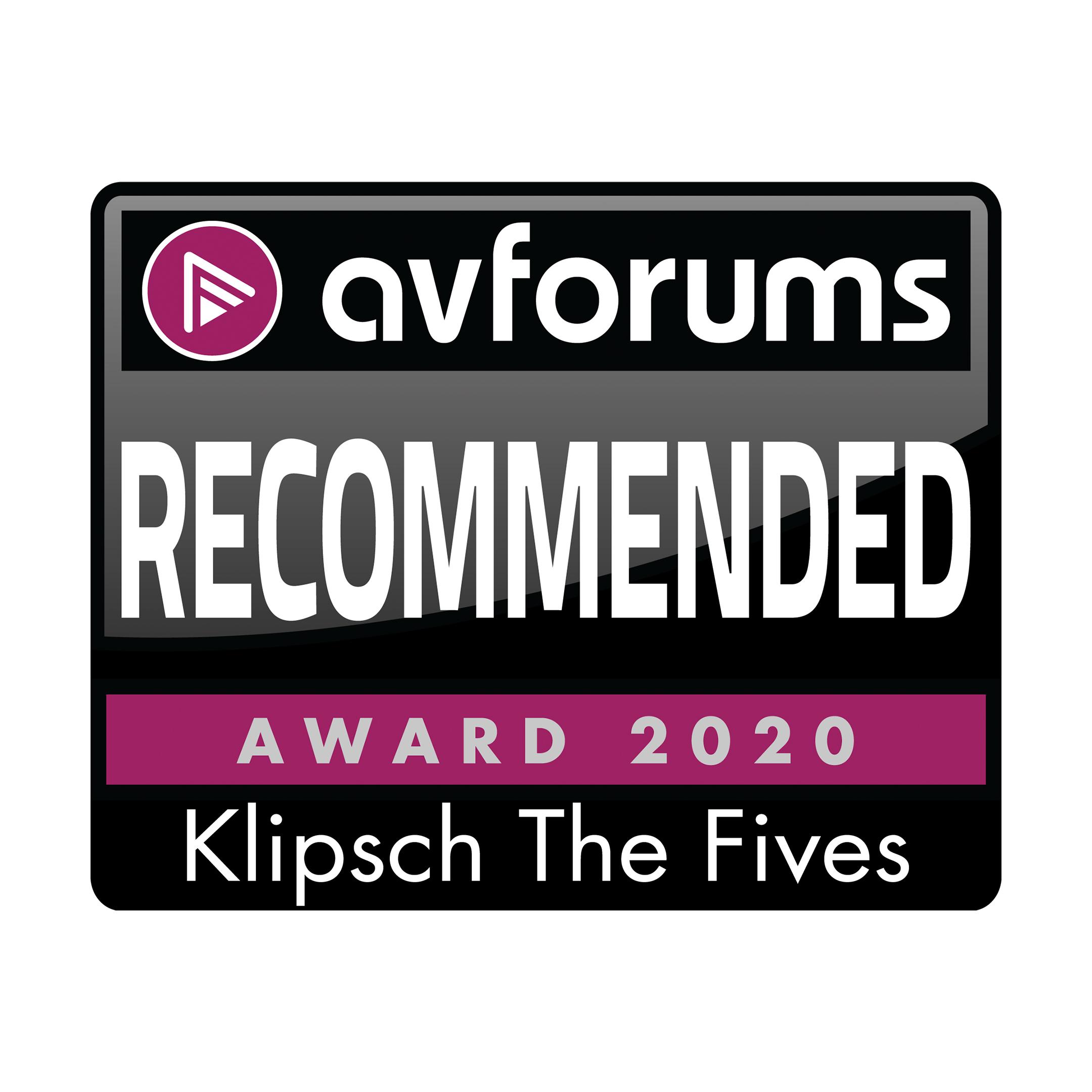 Klipsch The Fives, AV Forums, September 2020