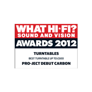 Pro-Ject Debut Carbon, What Hi-Fi?, Award 2012