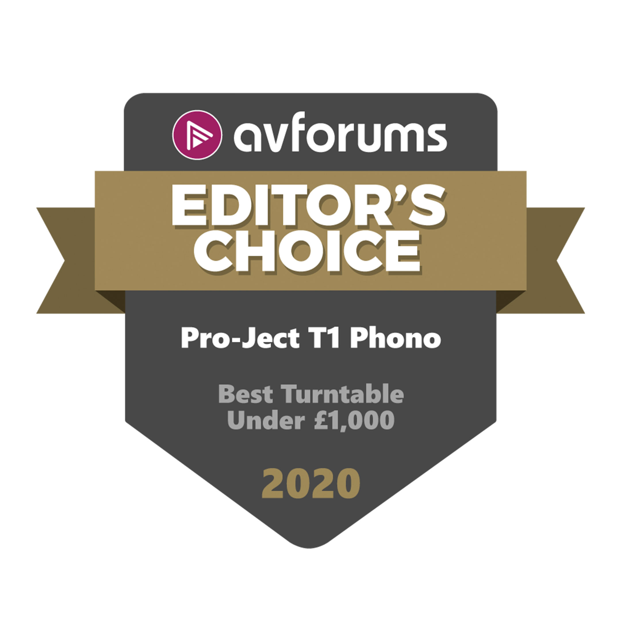 Pro-Ject T1 Phono SB, Editors Choice Award, AV Forums 2020