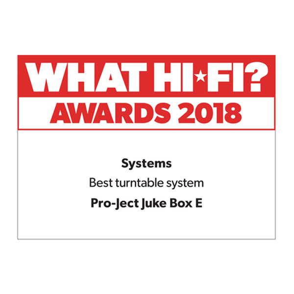 Pro-Ject Juke Box E, What Hi-Fi?, Award 2018
