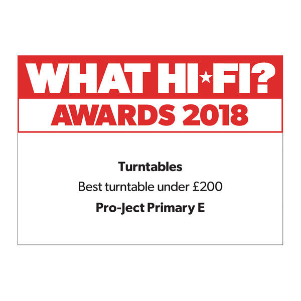 Pro-Ject Primary E, What Hi-Fi?, Award 2018
