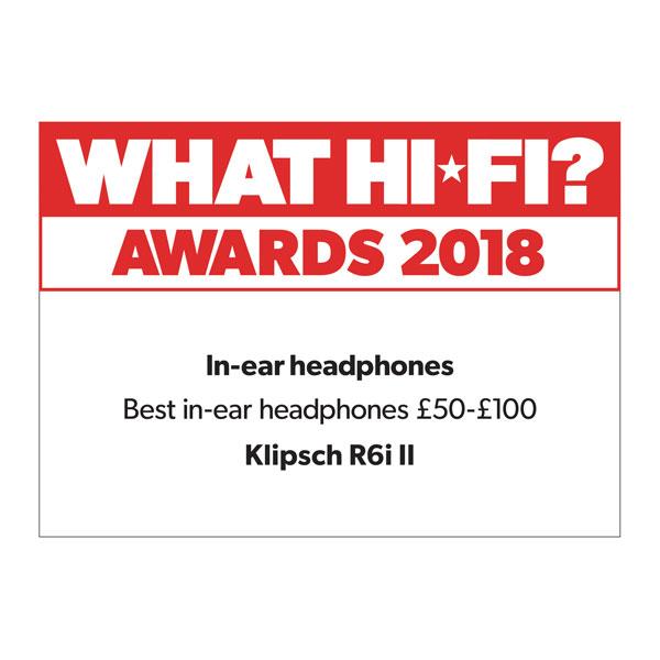 Klipsch, R6i II, What Hi-Fi?, Award 2018